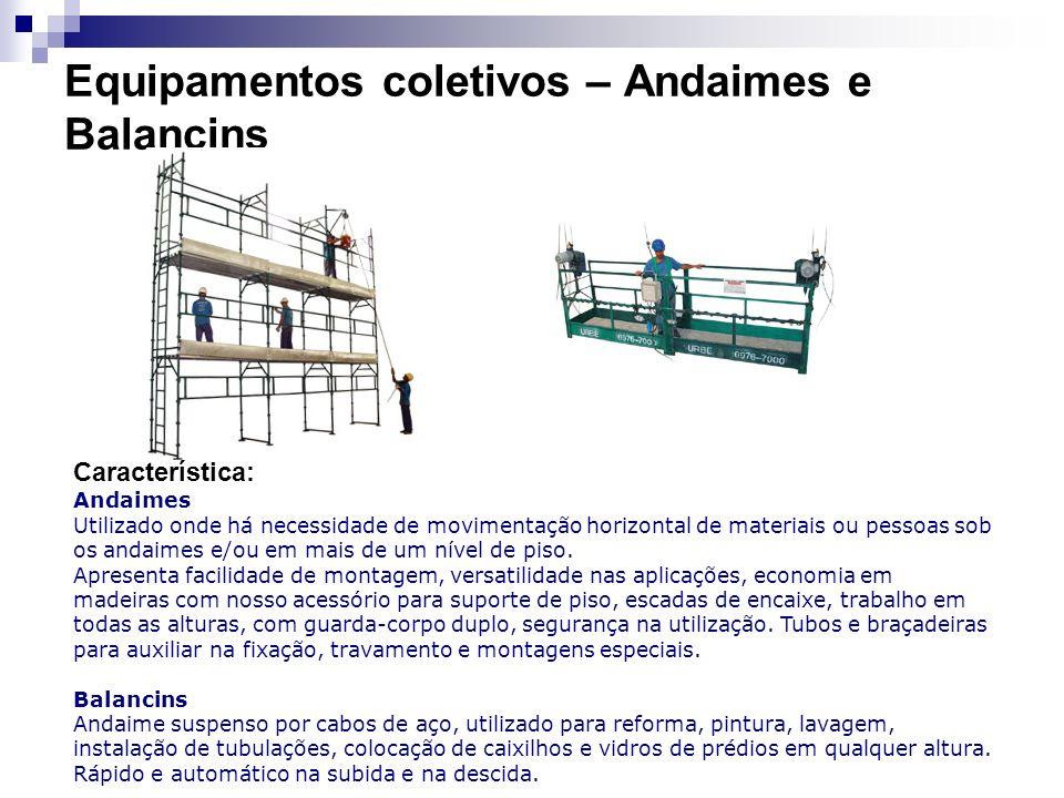 Equipamentos coletivos – Andaimes e Balancins