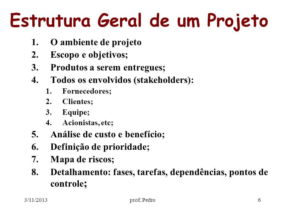 Estrutura Geral de um Projeto