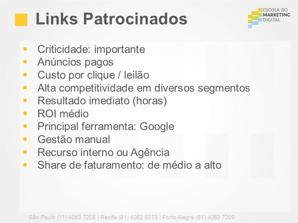 Links Patrocinados Criticidade: importante Anúncios pagos