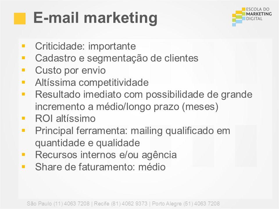 E-mail marketing Criticidade: importante