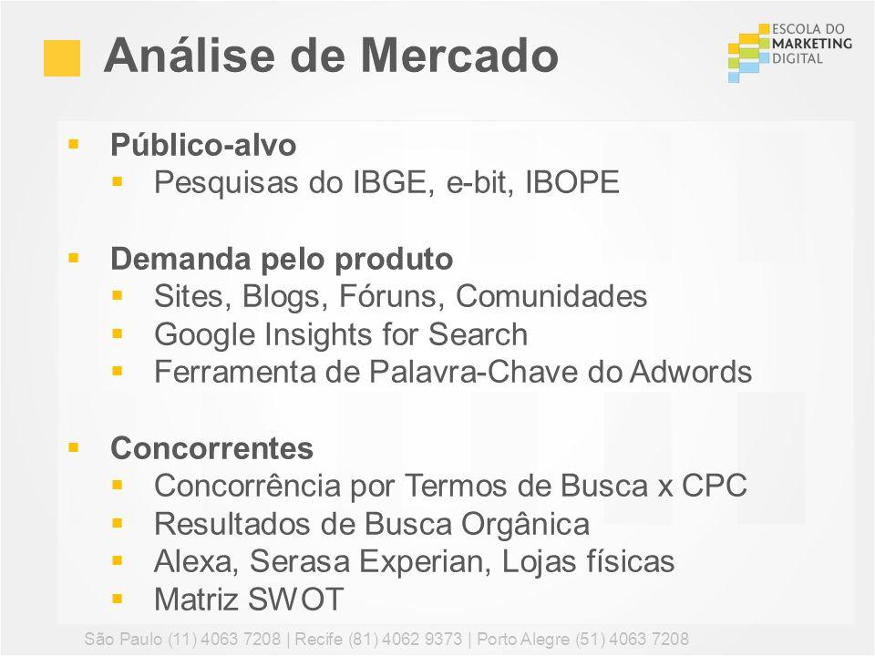 Análise de Mercado Público-alvo Pesquisas do IBGE, e-bit, IBOPE