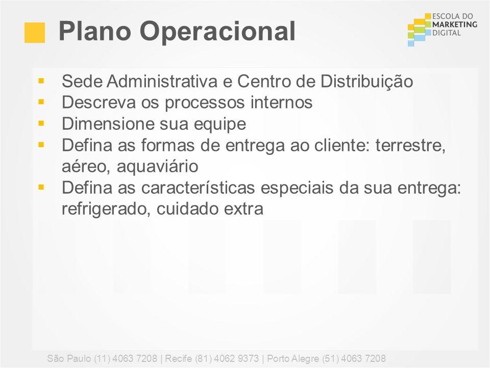 Plano Operacional Sede Administrativa e Centro de Distribuição