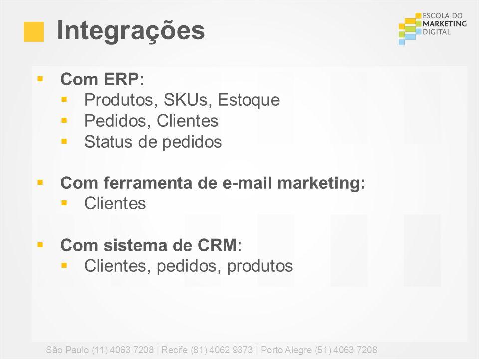 Integrações Com ERP: Produtos, SKUs, Estoque Pedidos, Clientes