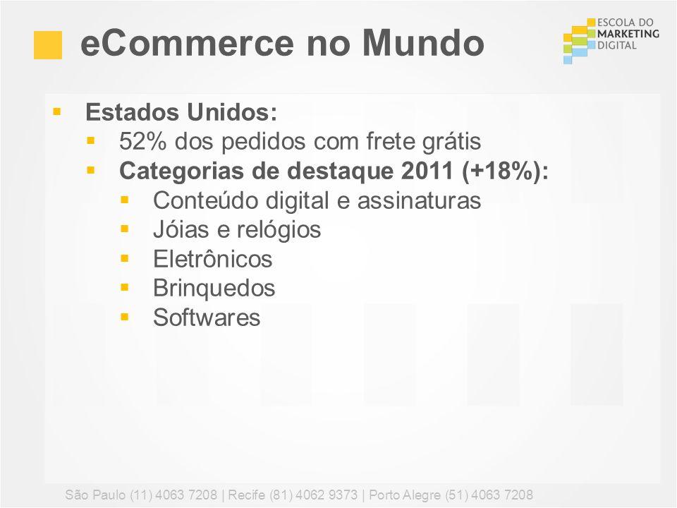 eCommerce no Mundo Estados Unidos: 52% dos pedidos com frete grátis