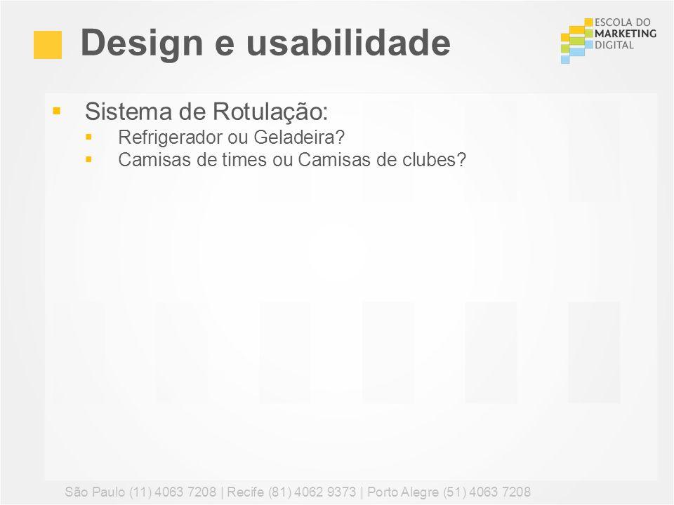 Design e usabilidade Sistema de Rotulação: Refrigerador ou Geladeira