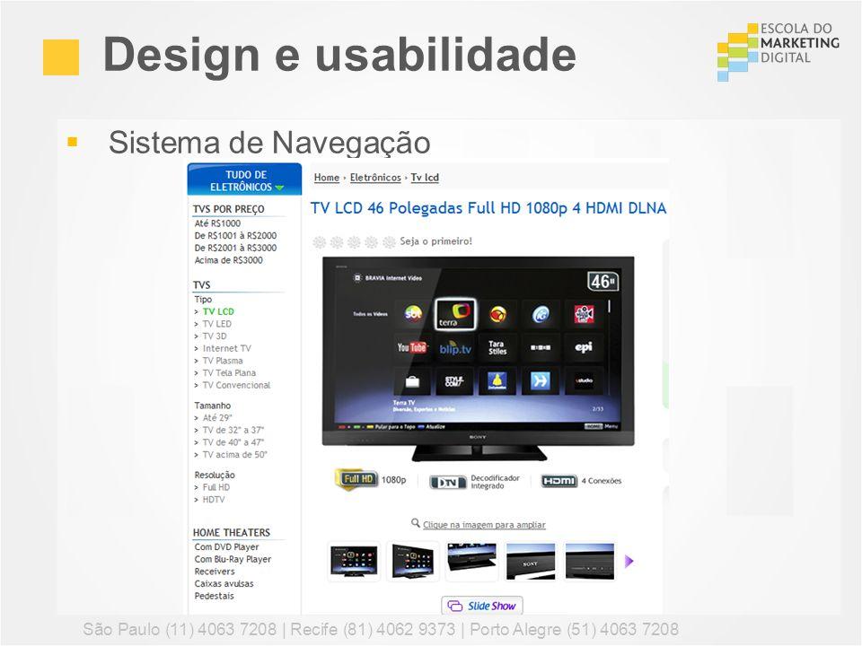 Design e usabilidade Sistema de Navegação