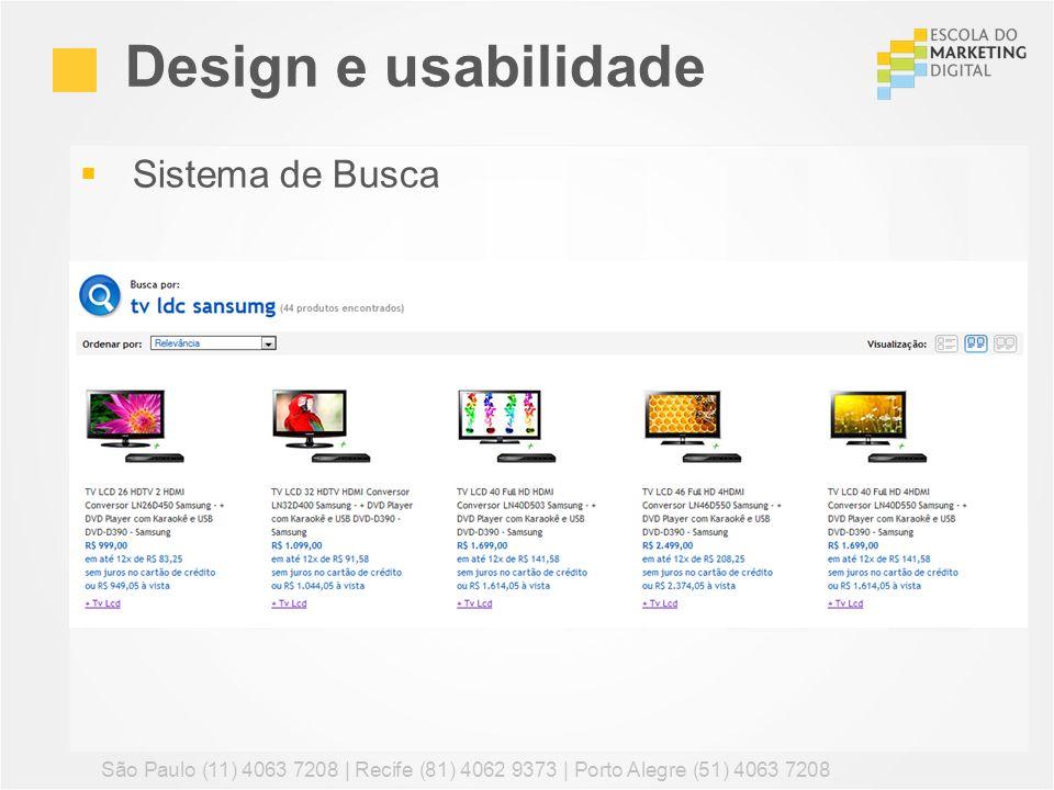 Design e usabilidade Sistema de Busca
