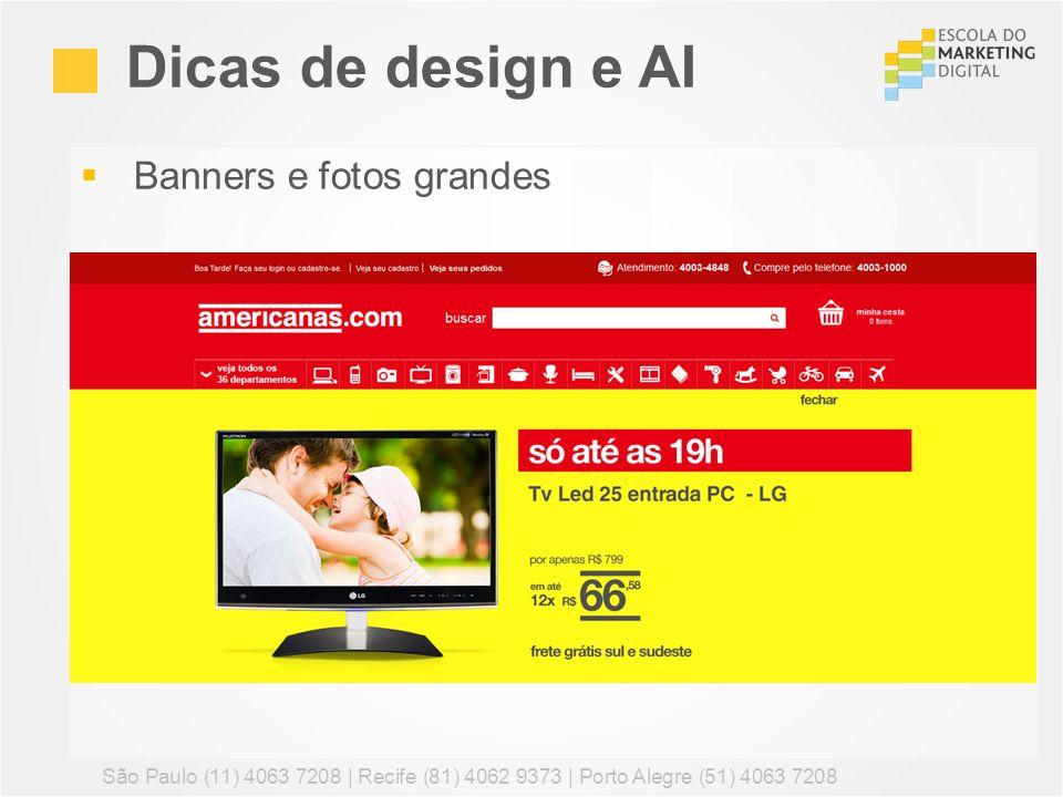 Dicas de design e AI Banners e fotos grandes