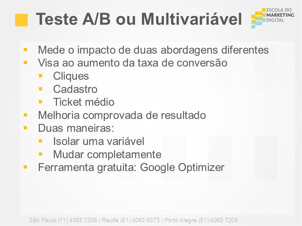 Teste A/B ou Multivariável