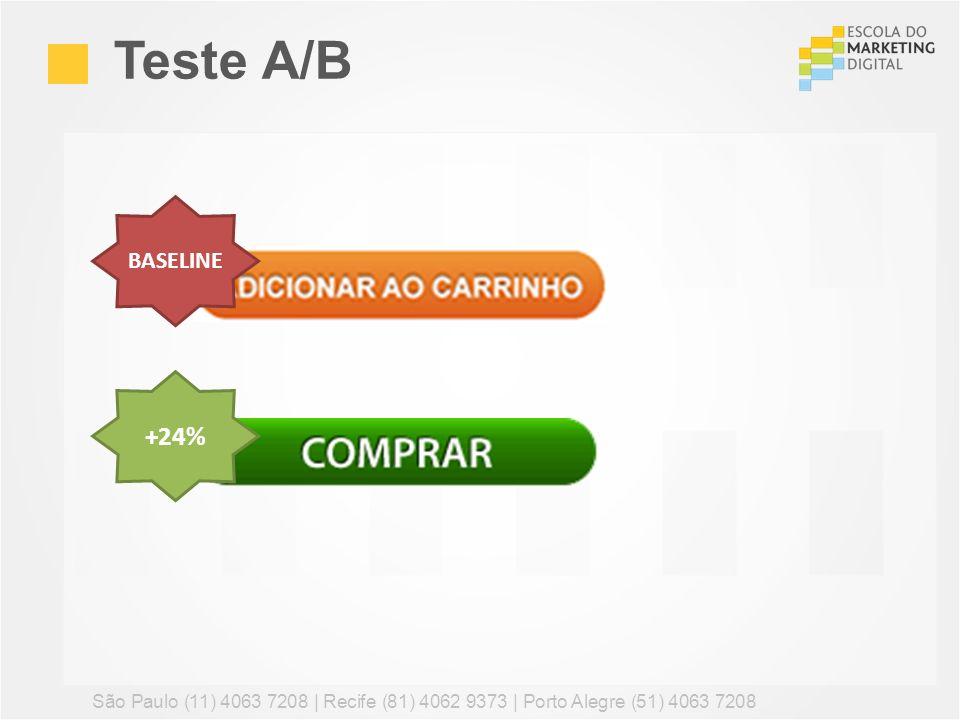 Teste A/B BASELINE. +24% São Paulo (11) 4063 7208 | Recife (81) 4062 9373 | Porto Alegre (51) 4063 7208.