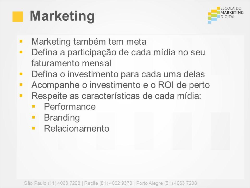 Marketing Marketing também tem meta