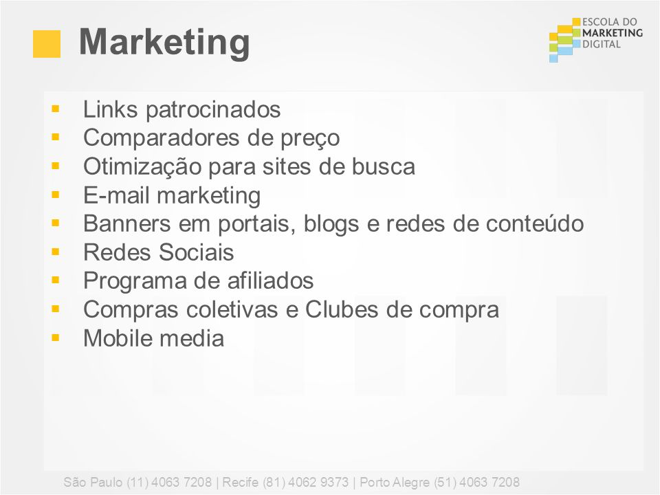 Marketing Links patrocinados Comparadores de preço