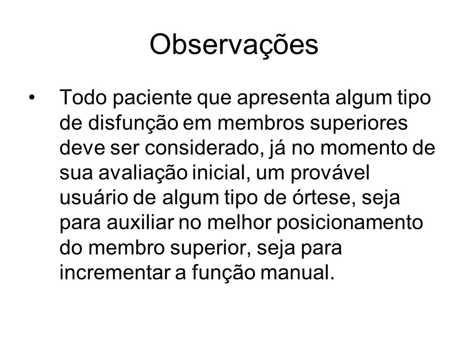 Observações