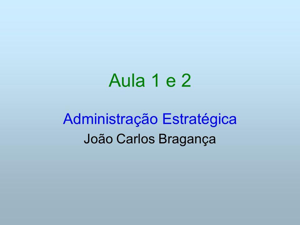 Administração Estratégica João Carlos Bragança