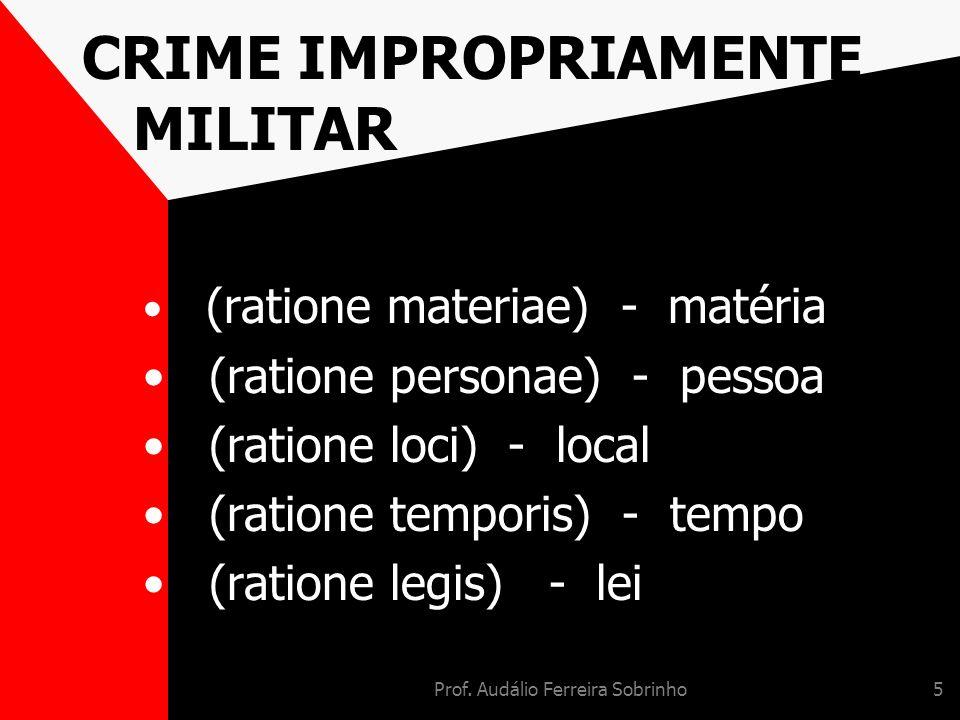 CRIME IMPROPRIAMENTE MILITAR