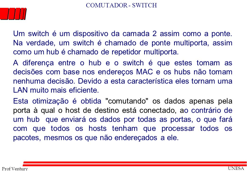 COMUTADOR - SWITCH