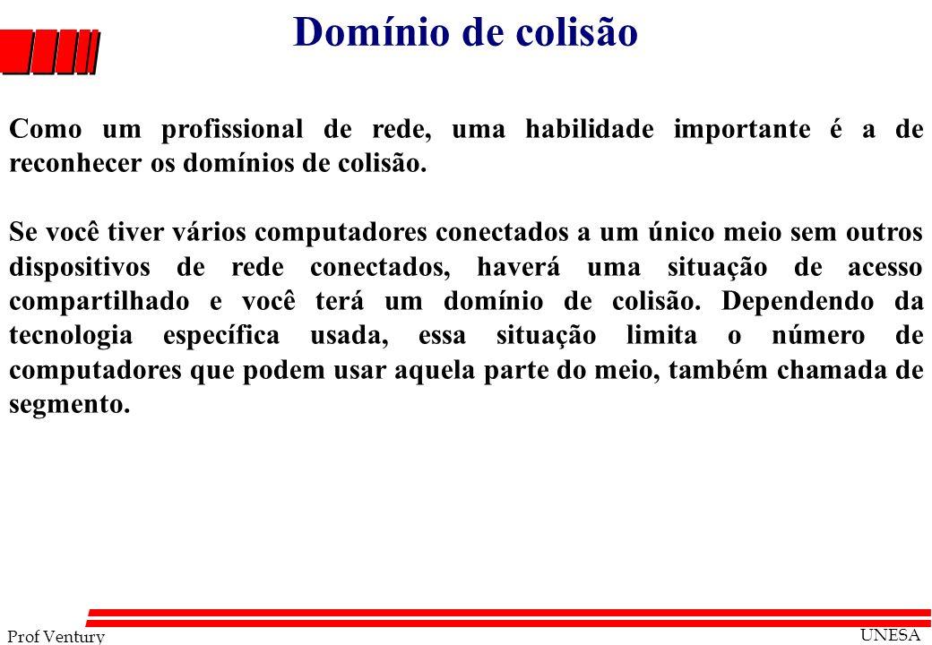 Domínio de colisão Como um profissional de rede, uma habilidade importante é a de reconhecer os domínios de colisão.