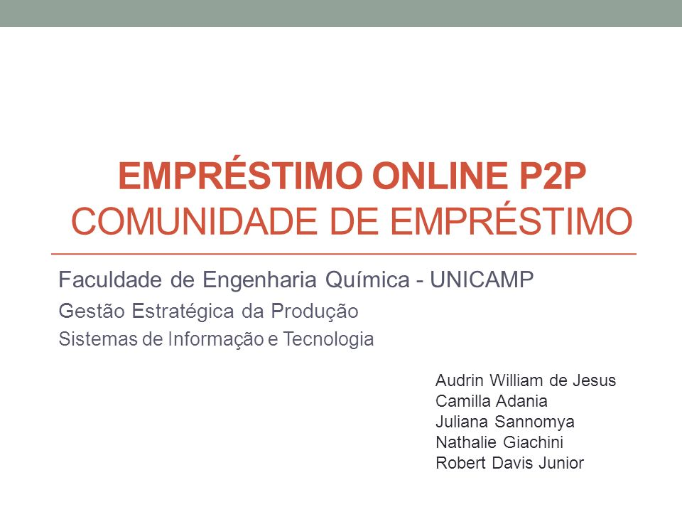 Empréstimo online P2P Comunidade de Empréstimo