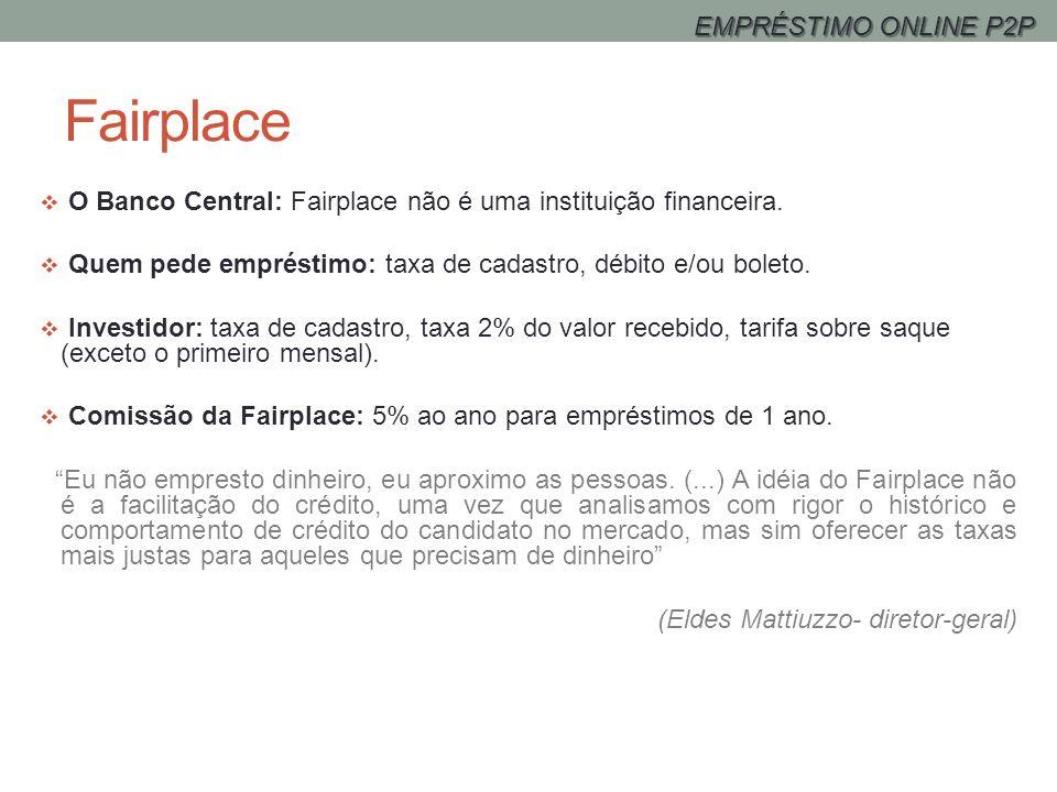 Fairplace EMPRÉSTIMO ONLINE P2P
