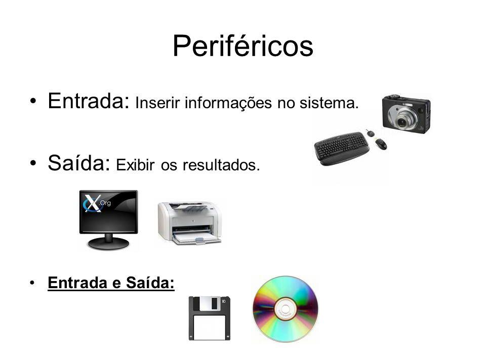 Periféricos Entrada: Inserir informações no sistema.