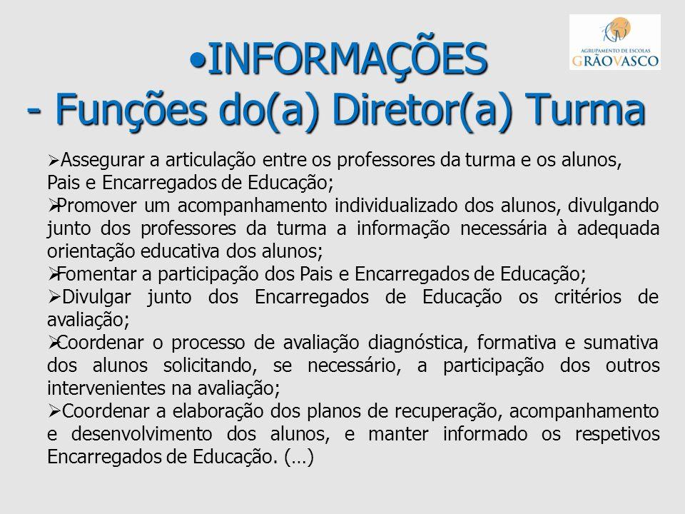 INFORMAÇÕES - Funções do(a) Diretor(a) Turma