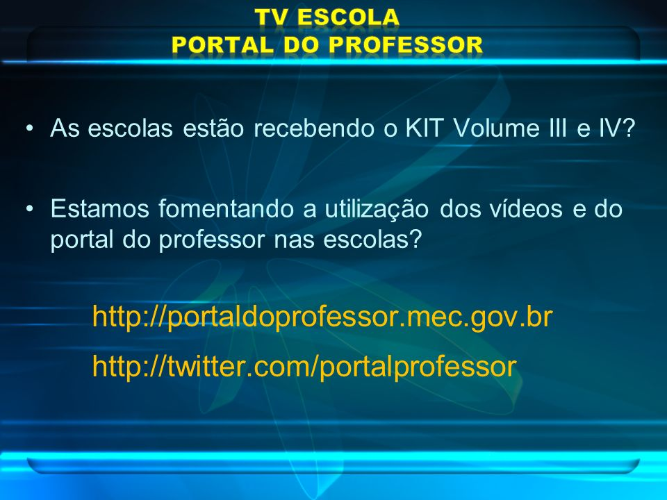 TV Escola PORTAL DO PROFESSOR