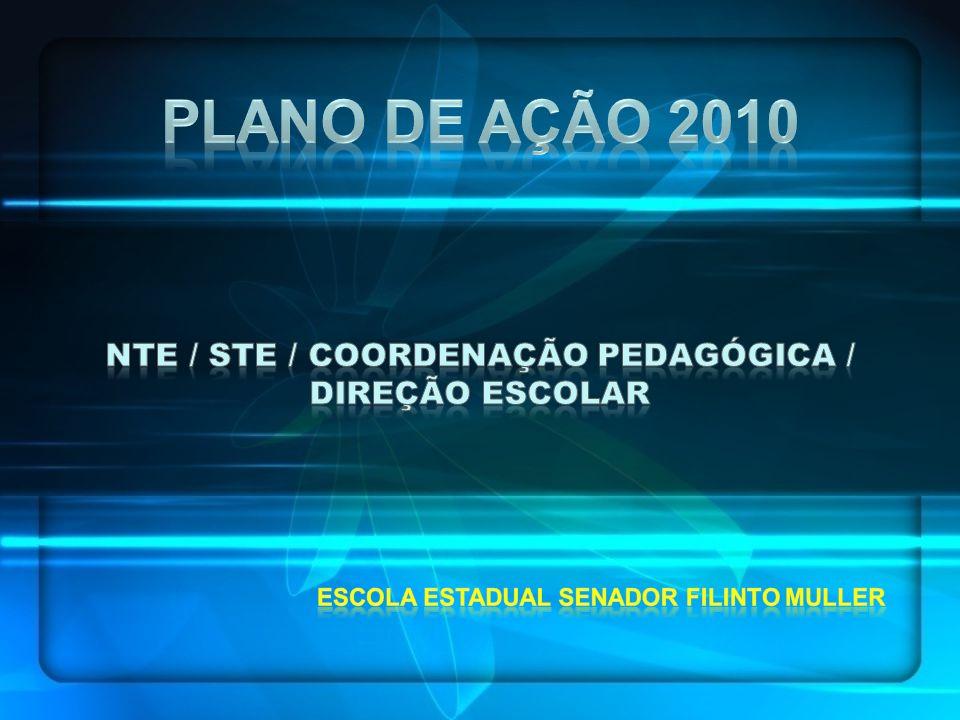 NTE / STE / COORDENAÇÃO PEDAGÓGICA / DIREÇÃO ESCOLAR