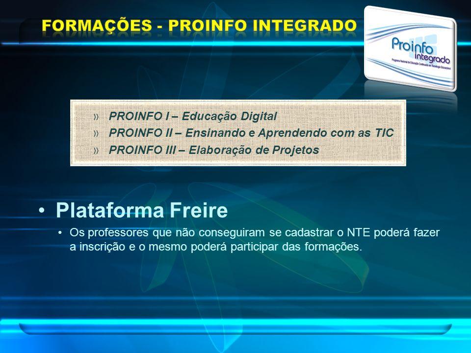 FORMAÇÕES - PROINFO INTEGRADO