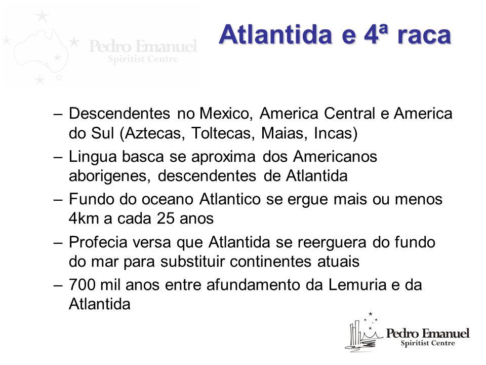 Atlantida e 4ª racaDescendentes no Mexico, America Central e America do Sul (Aztecas, Toltecas, Maias, Incas)