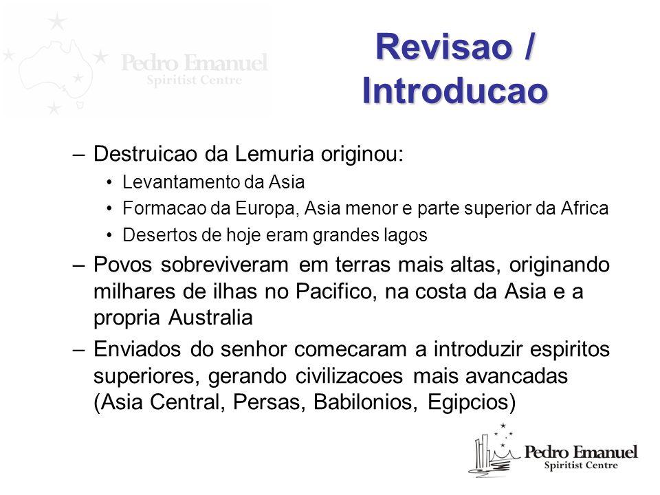 Revisao / Introducao Destruicao da Lemuria originou: