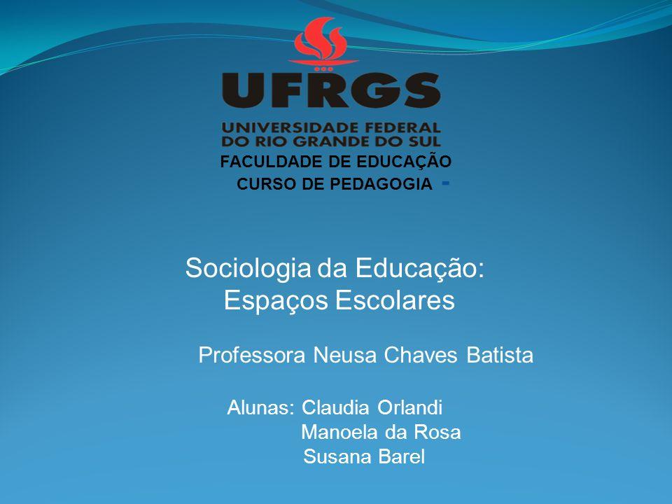 Sociologia da Educação: Espaços Escolares