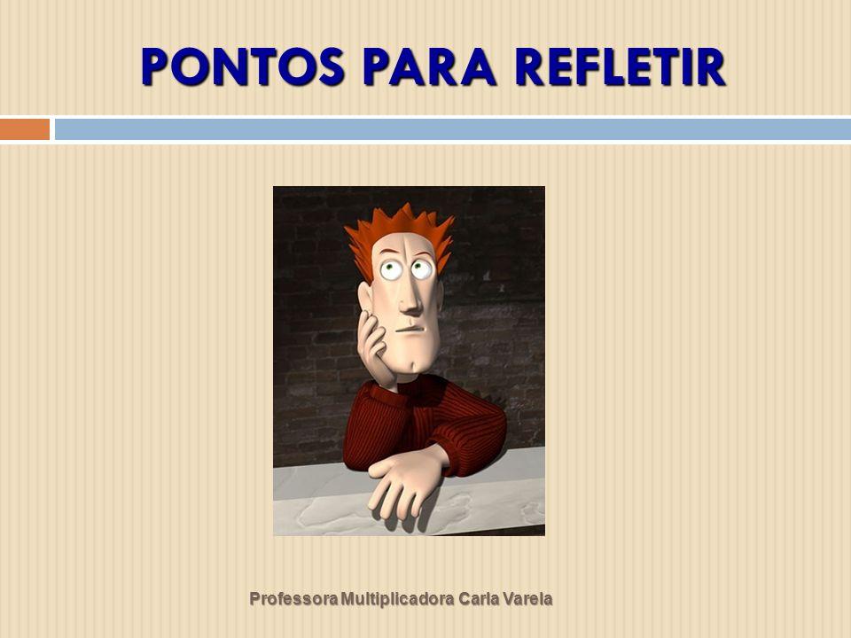 PONTOS PARA REFLETIR Professora Multiplicadora Carla Varela