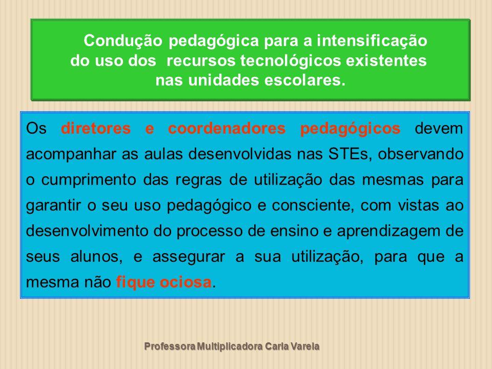 Condução pedagógica para a intensificação