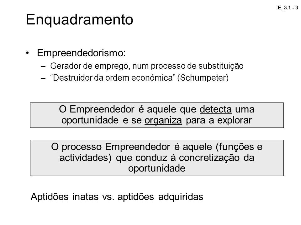 Enquadramento Empreendedorismo:
