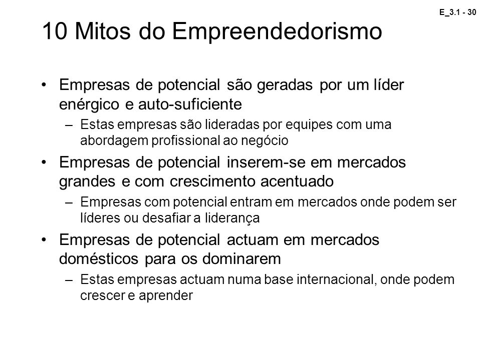 10 Mitos do Empreendedorismo