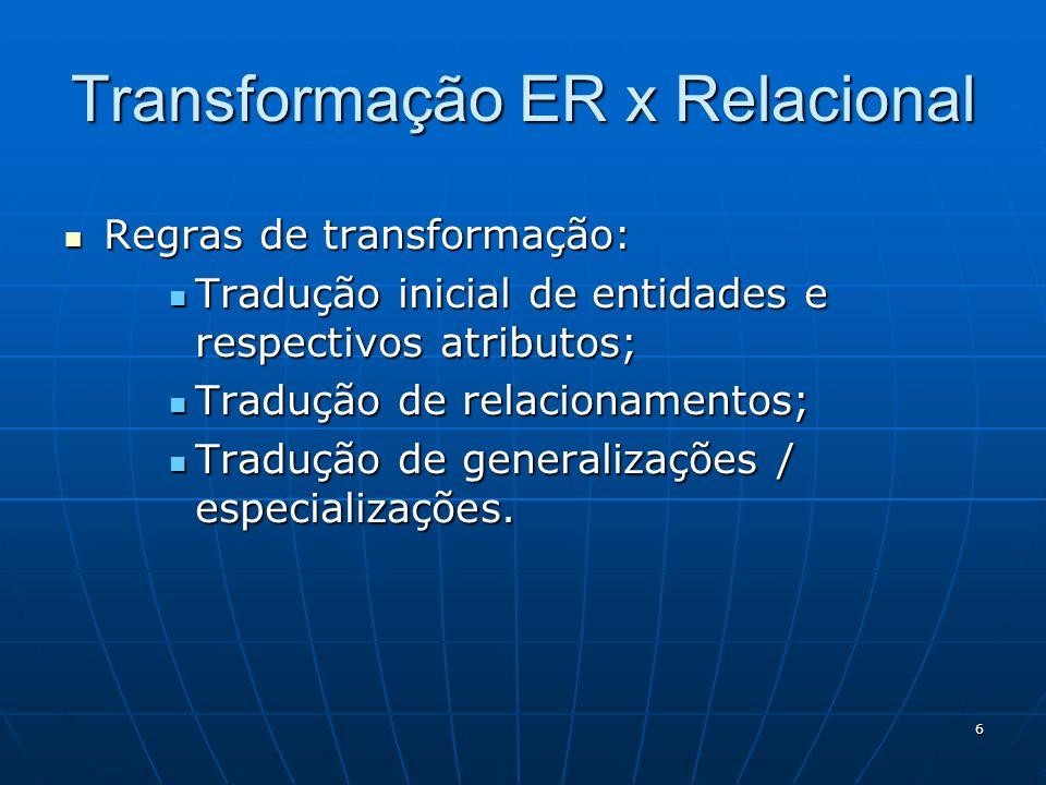 Transformação ER x Relacional