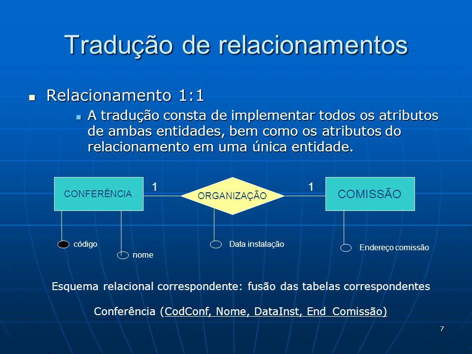 Tradução de relacionamentos