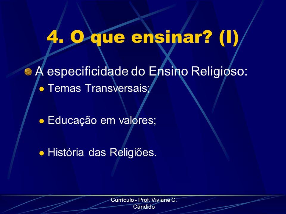 Currículo - Prof. Viviane C. Cândido