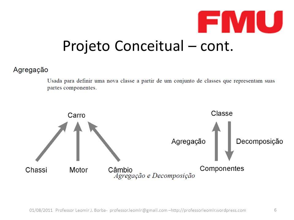 Projeto Conceitual – cont.