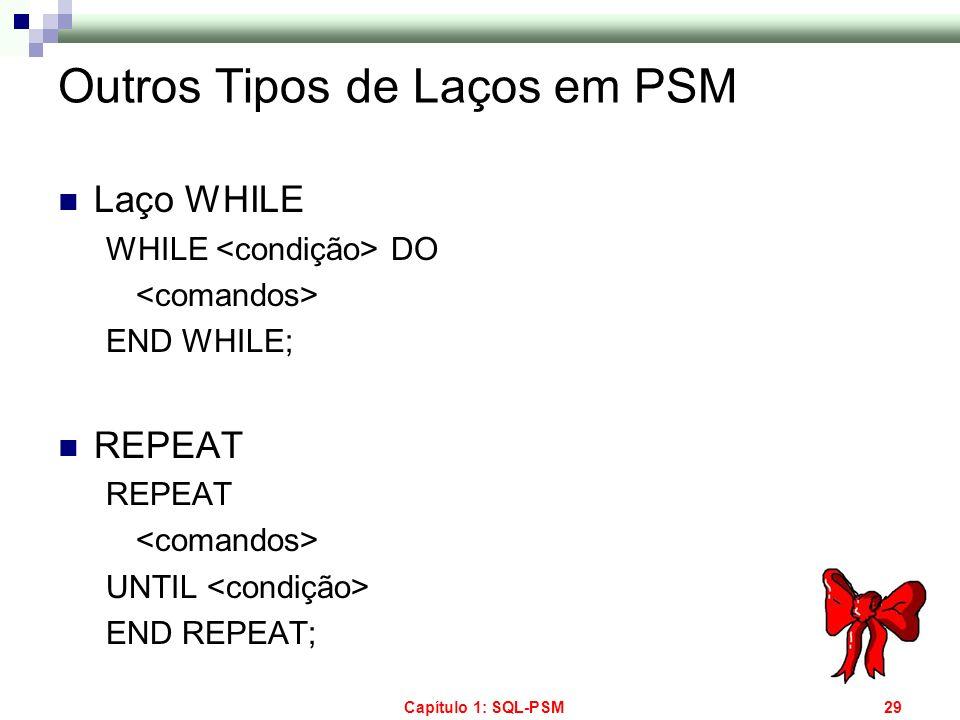 Outros Tipos de Laços em PSM