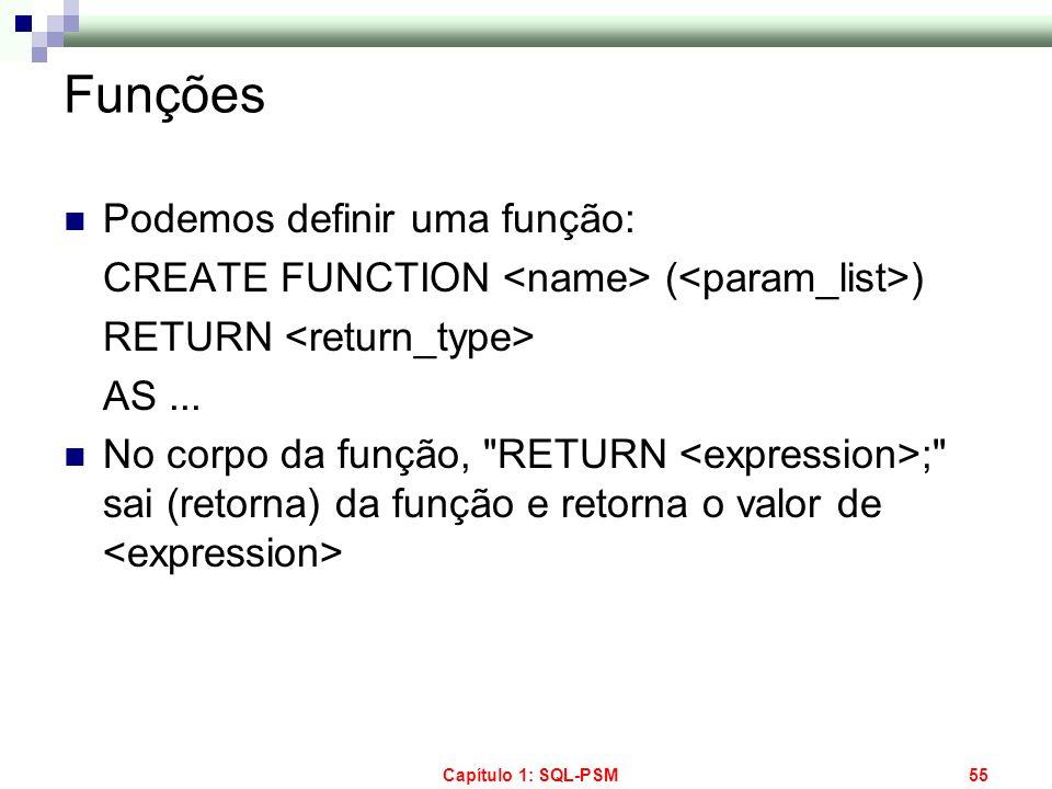 Funções Podemos definir uma função: