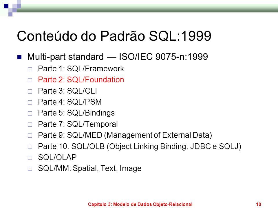 Conteúdo do Padrão SQL:1999