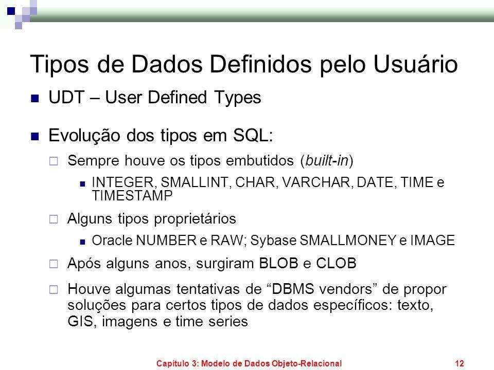 Tipos de Dados Definidos pelo Usuário