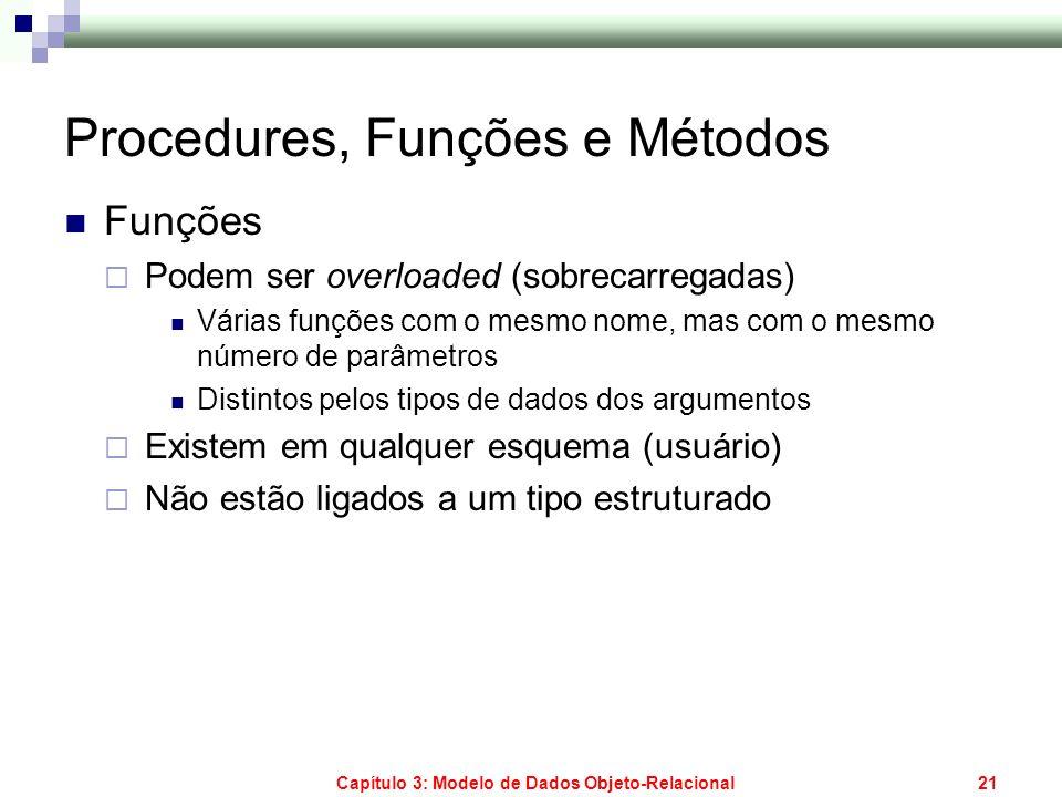 Procedures, Funções e Métodos