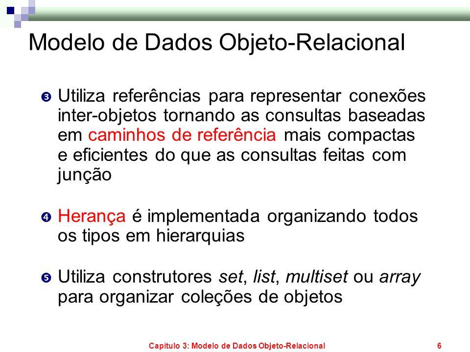 Modelo de Dados Objeto-Relacional