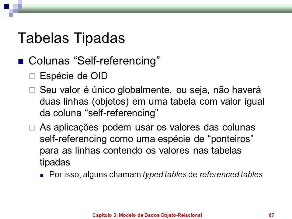 Capítulo 3: Modelo de Dados Objeto-Relacional