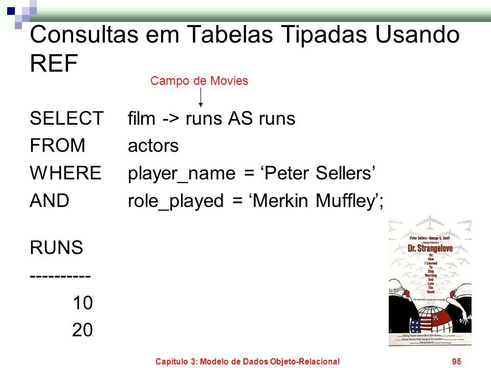 Consultas em Tabelas Tipadas Usando REF