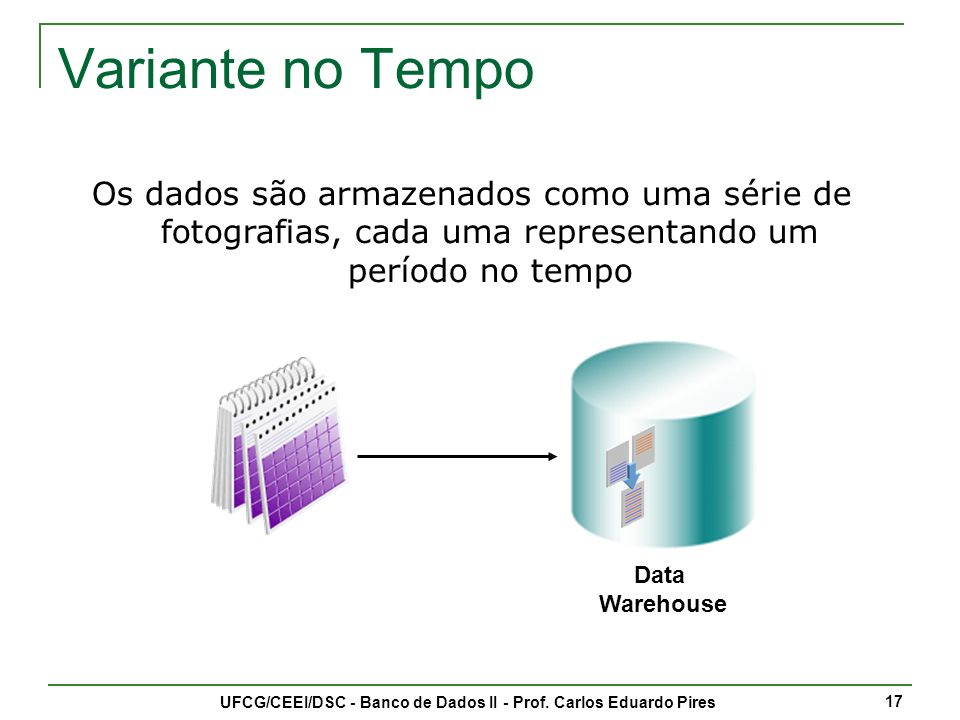 UFCG/CEEI/DSC - Banco de Dados II - Prof. Carlos Eduardo Pires