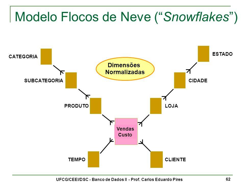 Modelo Flocos de Neve ( Snowflakes )