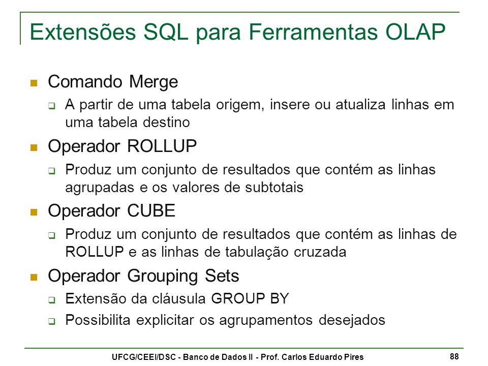 Extensões SQL para Ferramentas OLAP